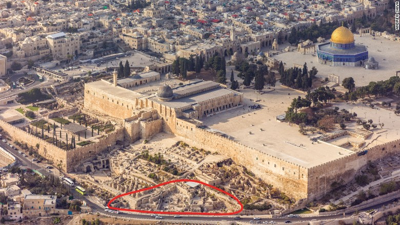 The Ophel excavations were conducted at the foot of the southern wall of the Temple Mount.