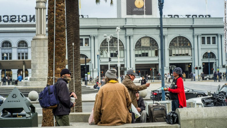 "San Francisco has dispatched a team of social workers, cops and fire fighters to remove the homeless from the long-time encampment that will be the site of ""Super Bowl City,"" a fan village that will feature concerts, interactive games and celebrity appearances."