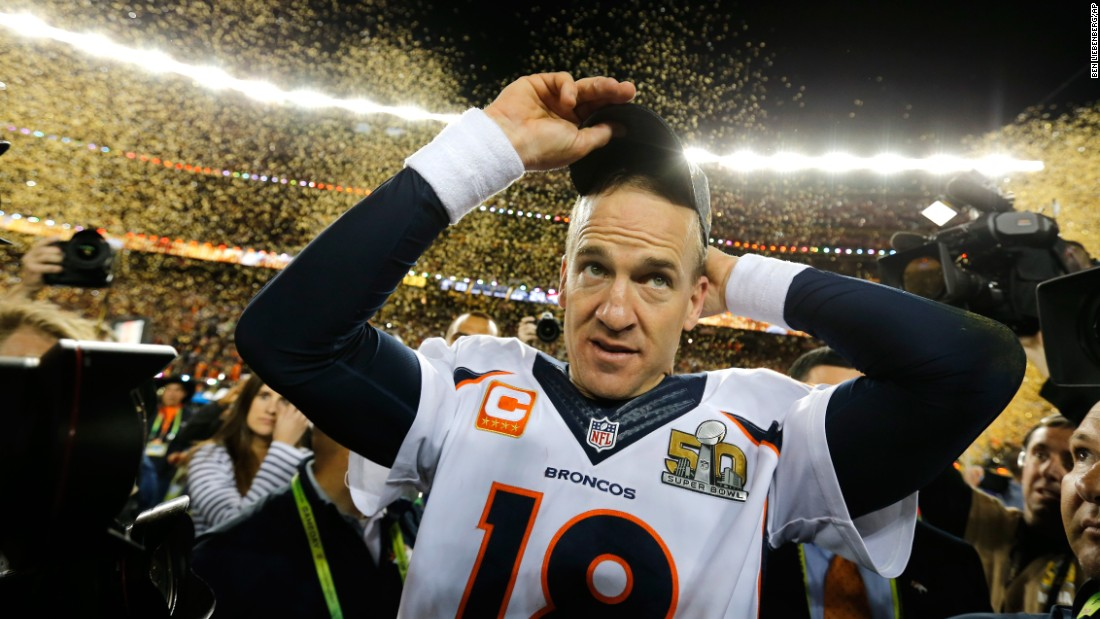 Image result for peyton manning superbowl 50