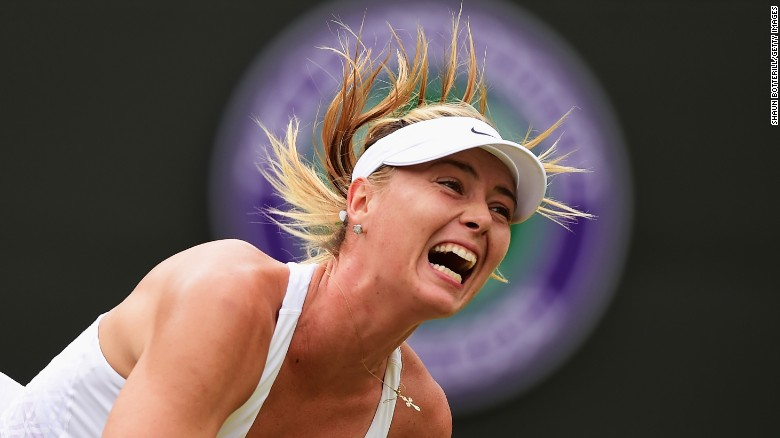"Maria Sharapova serves the ball during a Wimbledon match in July. The Russian superstar, the world's <a href=""http://www.cnn.com/2015/06/11/sport/forbes-magazine-floyd-mayweather-manny-pacquiao-worlds-highest-paid-athletes/"" target=""_blank"">highest-paid</a> female athlete of the last decade, announced Monday, March 7, that she <a href=""http://www.cnn.com/2016/03/07/tennis/maria-sharapova-tennis-injuries/index.html"" target=""_blank"">failed a drug test</a> at this year's Australian Open."