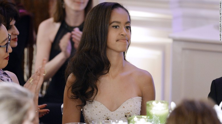 Malia Obama attends a state dinner at the White House on March 10. The dinner was in honor of Prime Minister Justin Trudeau and first lady Sophie Gregoire-Trudeau of Canada. Click through the gallery to see pictures of the first daughters through the years since their father was elected president in 2008.