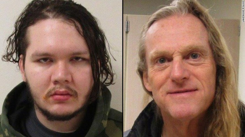 Anthony Garver (left) remains at large after the recapture of Mark Alexander Adams.