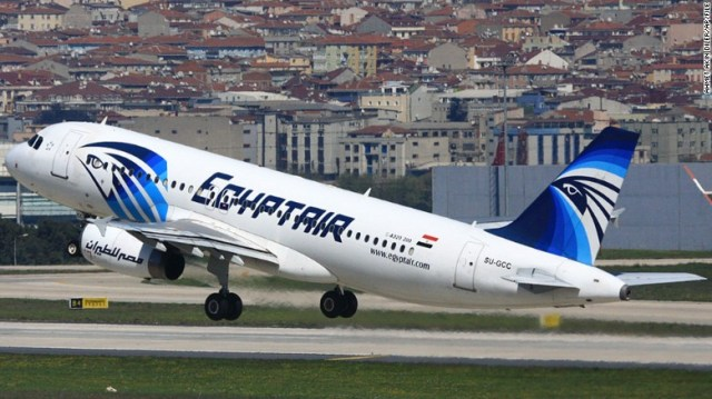 This April 2014 image shows EgyptAir Airbus A320 with the registration SU-GCC taking off from Istanbul Atatürk Airport in Turkey.
