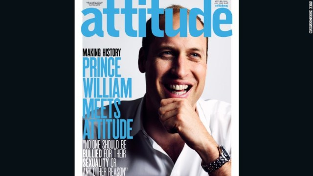 Prince William appears on the cover of the latest Attitude magazine.