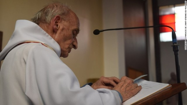 Jacques Hamel, the 86-year-old Catholic priest slain in an ISIS attack in Saint-Etienne-du-Rouvray, France.