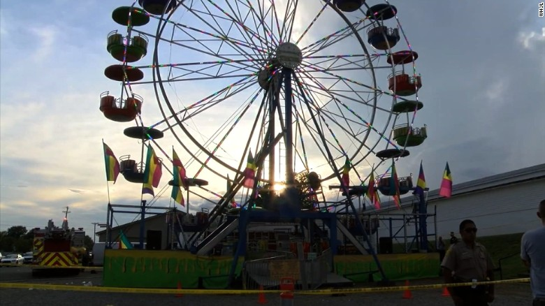 The Ferris wheel at the Greene County Fair and other rides at the fair have been closed.