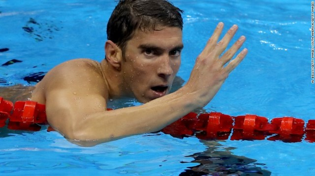 Michael Phelps won the 200-meter individual medley for the fourth successive Games.