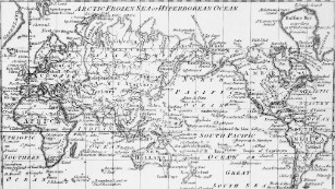 Chart of the world as per Mercator's projection, circa 1798, with the most recent discoveries.