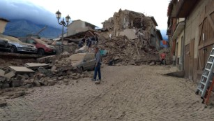 Half the town of Amatrice was destroyed, according to the mayor.