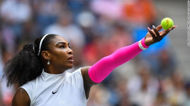 But there were no issues for her younger sister, Serena. The top seed crushed Yaroslava Shvedova 6-2 6-3 to record a leading 308th grand slam win.