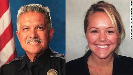 Palm Springs Police officers Jose Gilbert Vega and Lesley Zerebny were killed while responding to a family disturbance call.