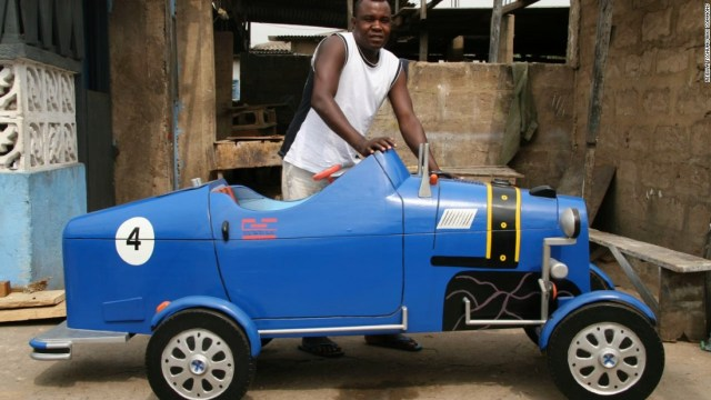 """Daniel """"Hello"""" Mensah, was an apprentice for Paa Joe, before launching his own practice the """"Hello Design Coffin Works."""""""