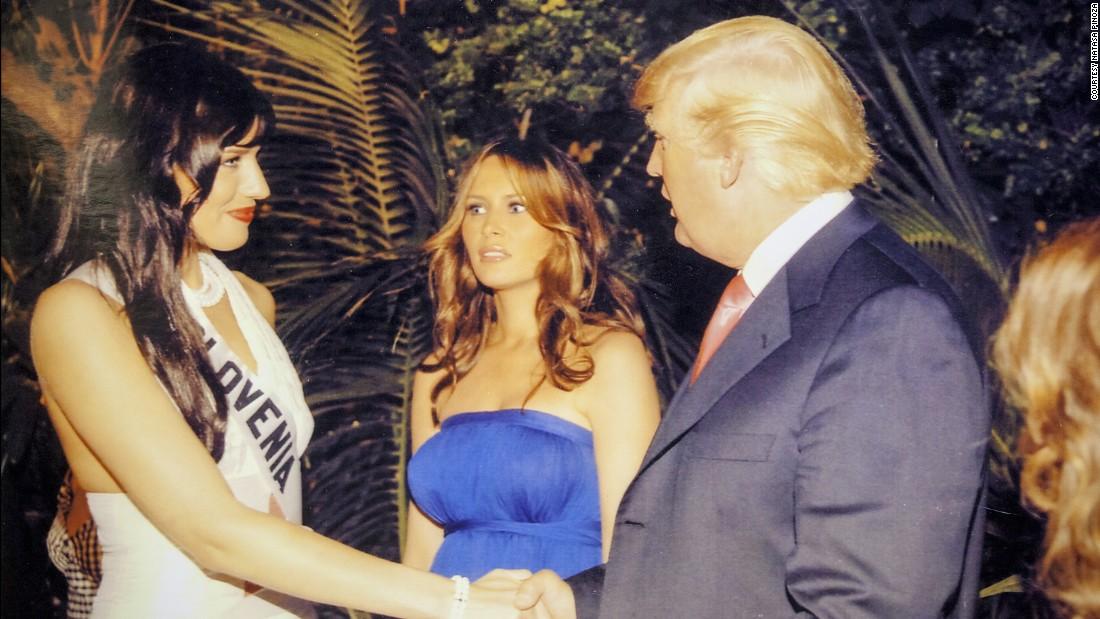 Natasha Pinoza recuerda haber conocido a Donald Trump en una fiesta. Dice que no se sintió humillada ni incómoda.