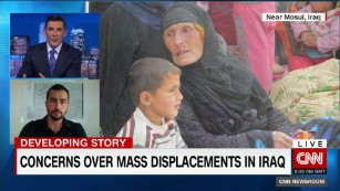 Concerns over mass displacements in Iraq