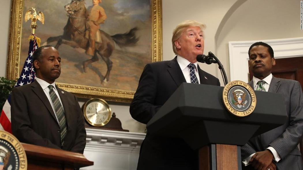 Image result for Trump not racist 'in the traditional sense,' says MLK's nephew at White House