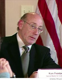 White House pay czar Kenneth Feinberg.