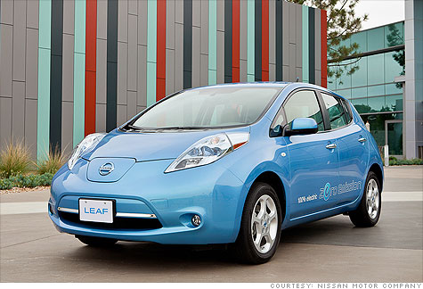 The Nissan Leaf earned a top 5-star rating from the National Highway Traffic Adminstration and a Top Safety Pick Award from the Insurance Insitute for Highway Safety.