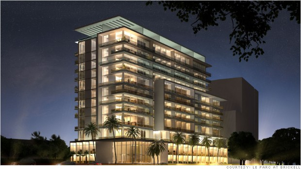 Render of Le Parc, a 12-story, 124-unit LEED certified building in the Brickell Financial District