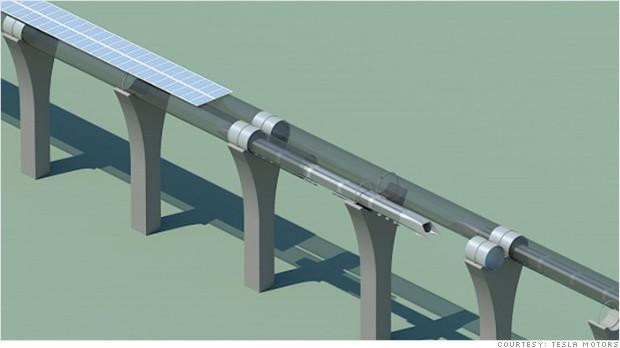 telsa hyperloop tube