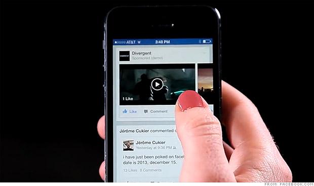 Vidéos publicitaires sur Facebook !