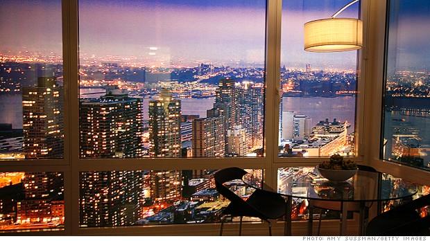 manhattan luxury apartment view