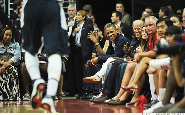 obama basketball game