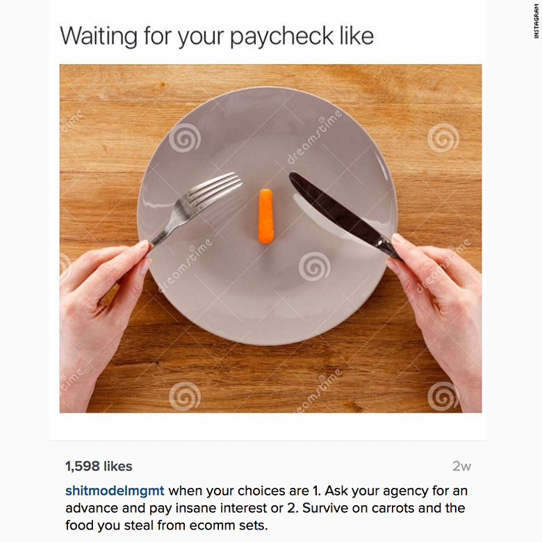 runway injustice instagram paycheck