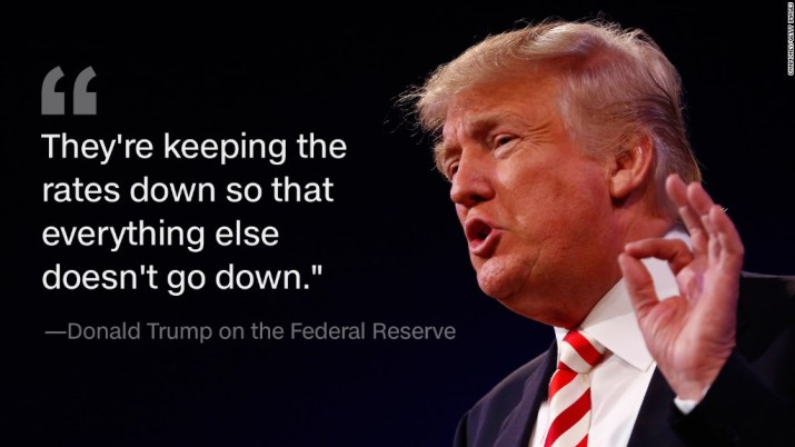 Trump claims Yellen is playing politics with Fed policy