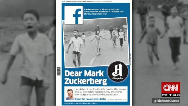Facebook removes ban on Vietnam War photo
