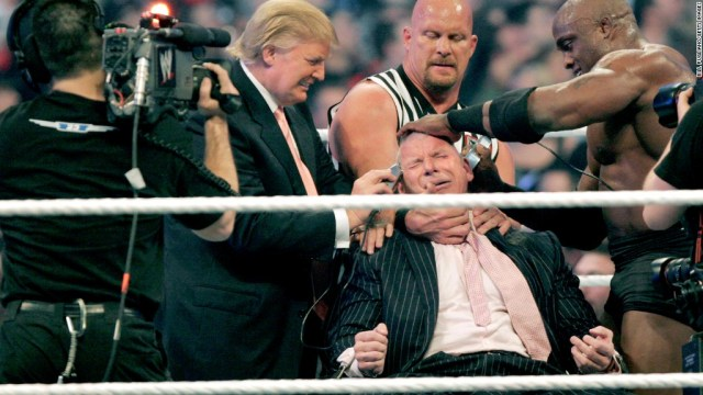 Trump body slammed critics and WWE soars