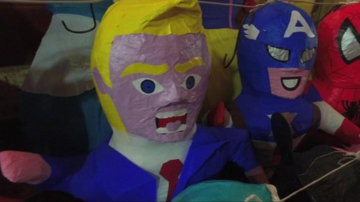 Trump piñatas selling out in Mexico