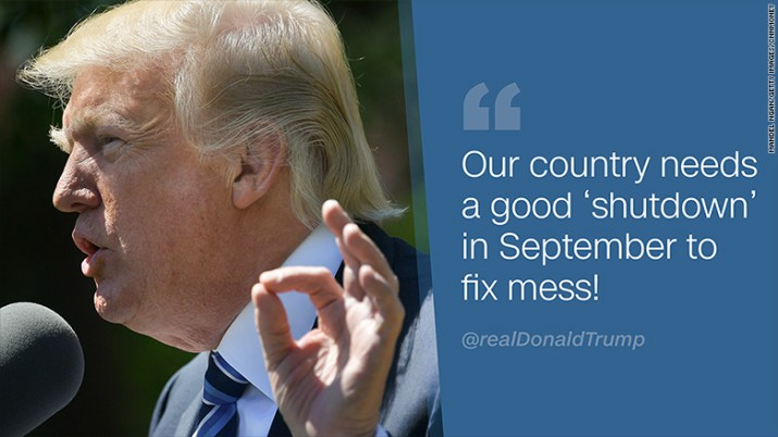 trump shutdown tweet