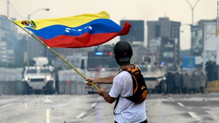 Violent protests over Venezuelan election