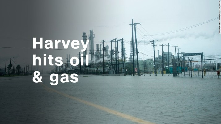 Harvey hits US oil and gas