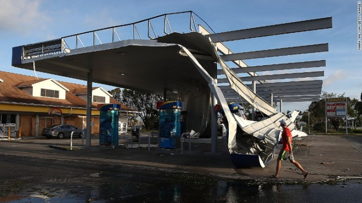 Florida gas station Irma