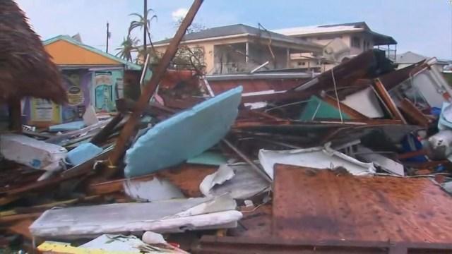 Widespread destruction in the Florida Keys