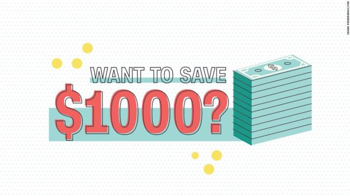 How to save $  1,000 this year