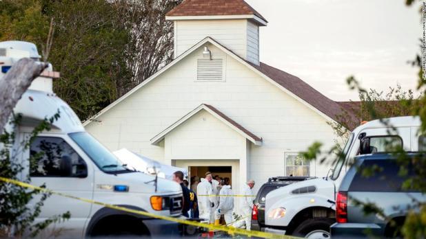 Neighbor saw shooting, held young survivor
