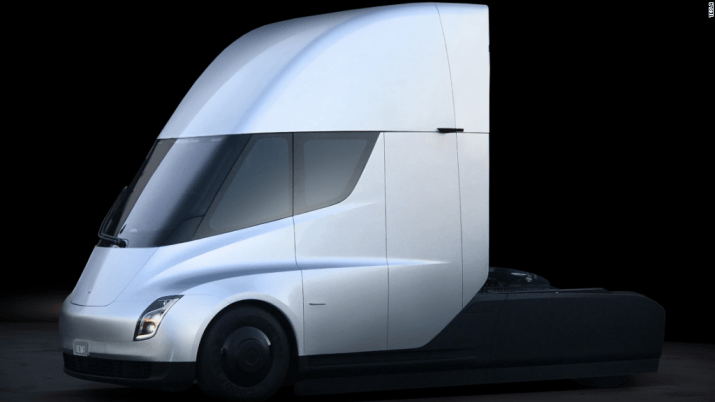 Tesla unveils a new electric semi-truck