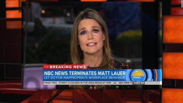 Matt Lauer fired from NBC News after complaint about ...