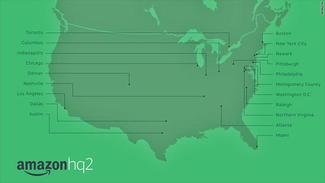 amazon hq2 map