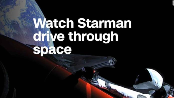 See the SpaceX Starman's journey through space