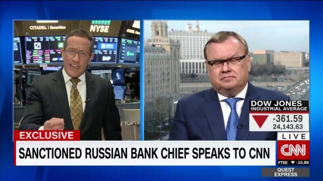 Russian banker Andrey Kostin responds to sanctions