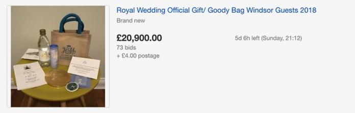 royal wedding ebay goody bag 1 goodie