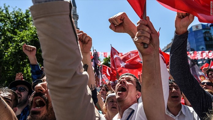 turkey economy istanbul political rally