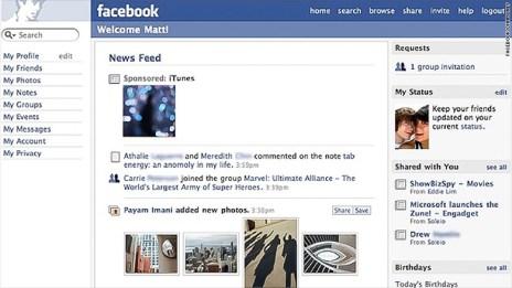 news feed rise screen