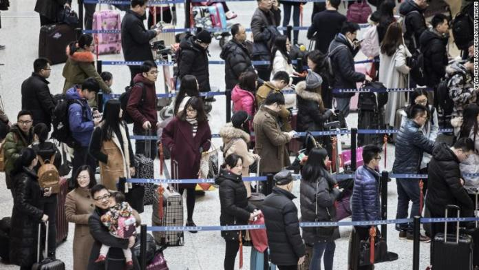china travelers airport checkin restricted