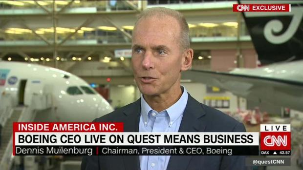 Boeing CEO: Global trade extremely important to us