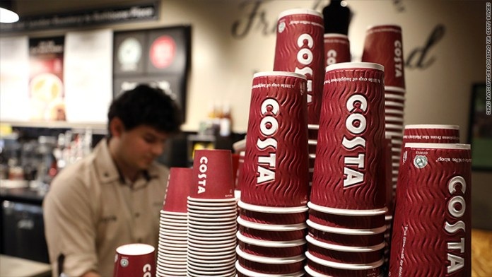 costa coffee cups barista
