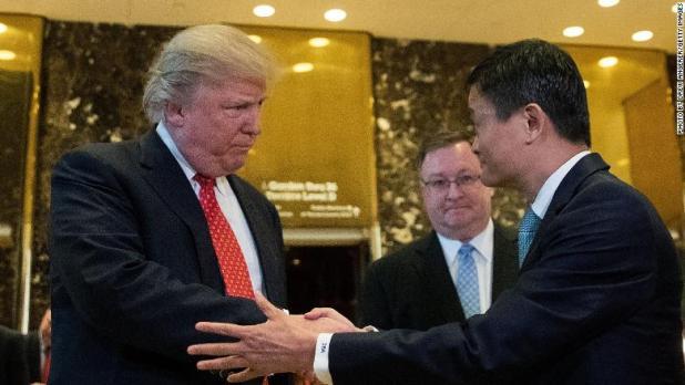 Jack Ma Alibaba Donald Trump 2017
